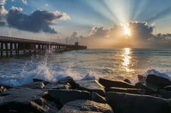 Sunrise at Pondicherry
