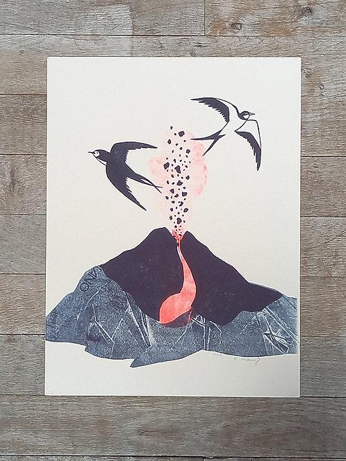 Linogravure /// EVELYNE MARY