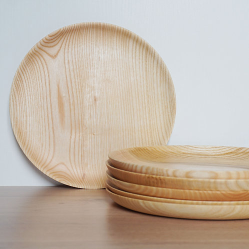 Grande assiette en frêne // CORALIE LB WOOD