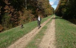 Véronique Lancesseur en promenade
