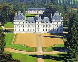 Vue aérienne du Château de Cheverny