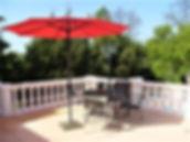 Abreuvoir, terrace upstairs