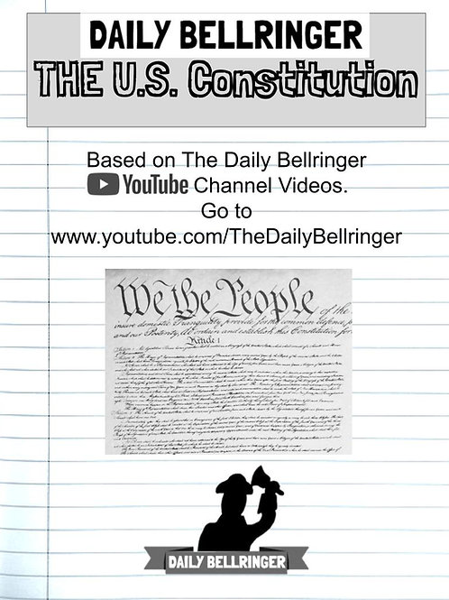 U.S. Constitution Worksheet FULL PACKET: 17 sheets