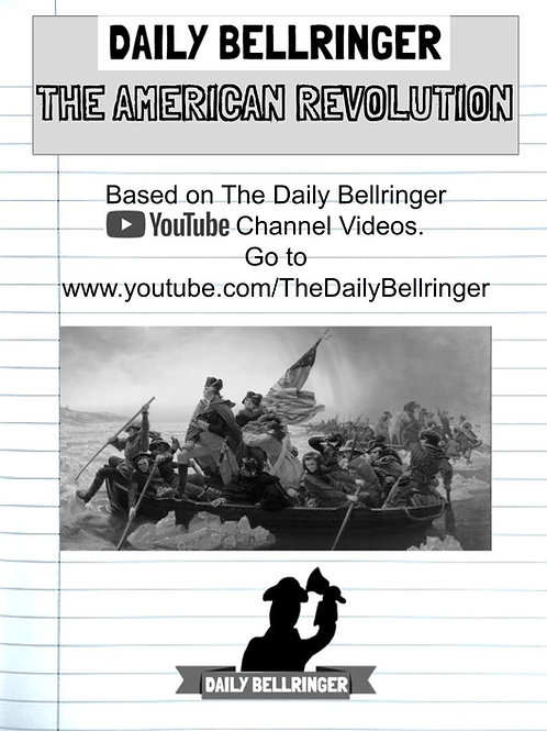 American Revolution FULL WORKSHEET PACK 11 Sheets w/ answer key