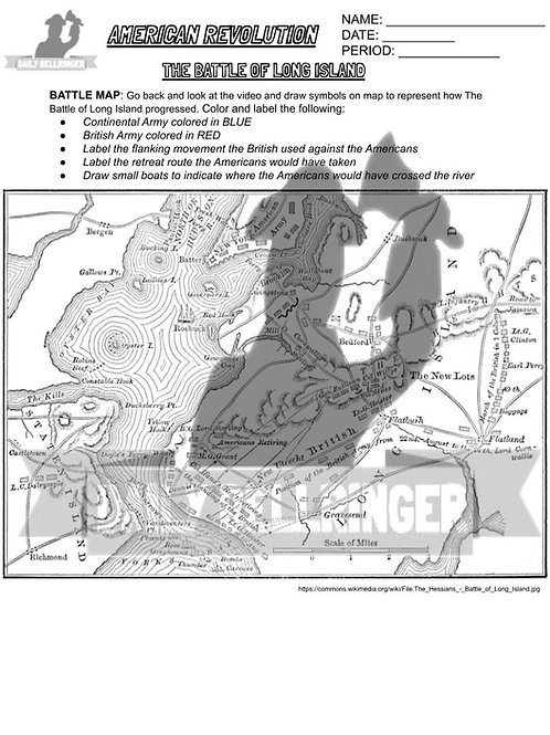 Battle of Long Island Worksheet