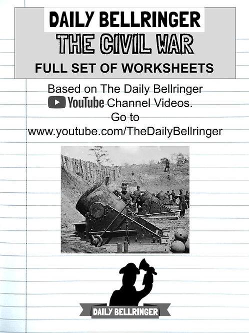 FULL CIVIL WAR PACK (23 worksheets)