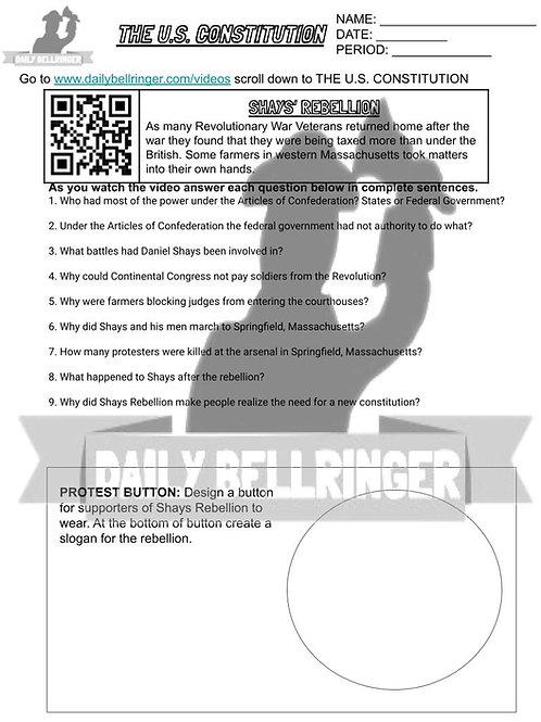 Shays' Rebellion Worksheet