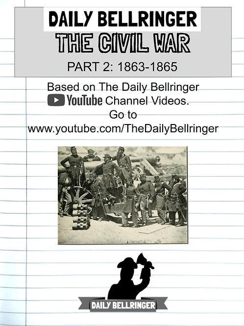 The Civil War Part 2: 1863-65 Worksheet pack (11 sheets)