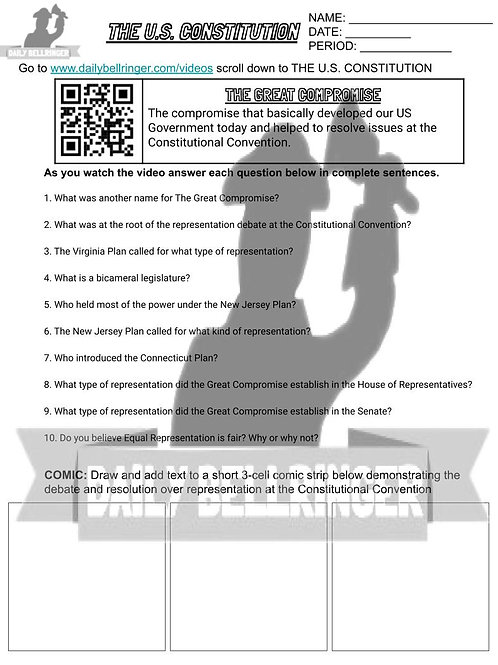 The Great Compromise Worksheet