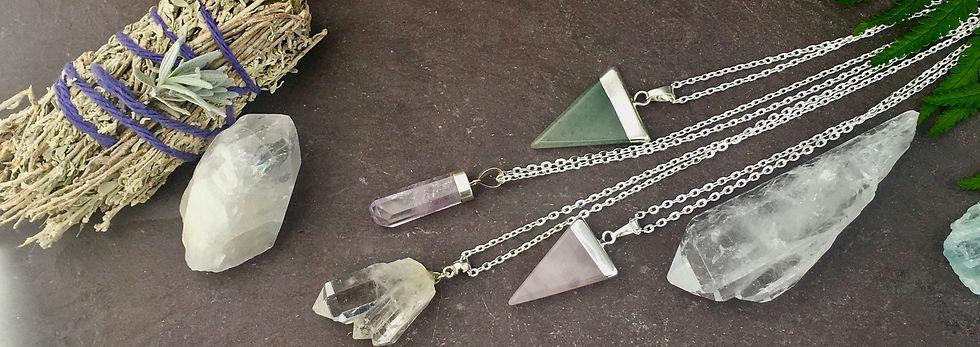 handmade crystal jewellery, semi preciou