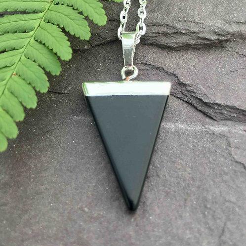 Triangle Point Onyx Pendant