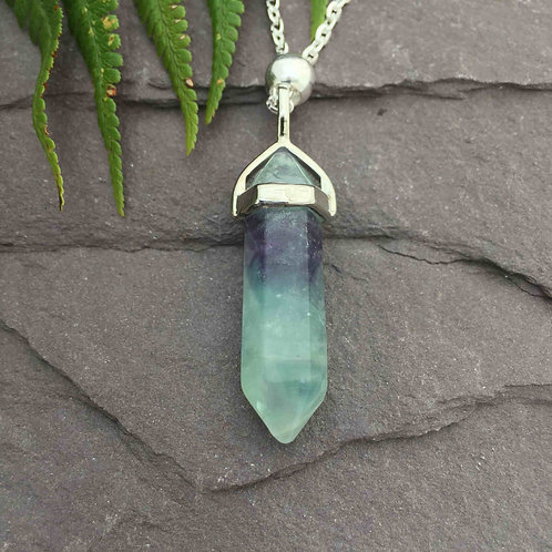 Fluorite Bullet Necklace