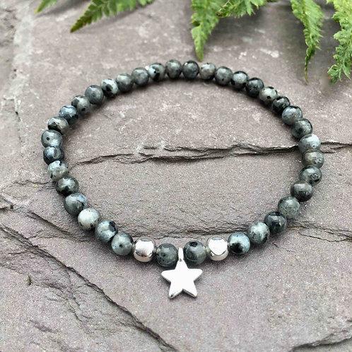 Larvikite Star Charm Bracelet
