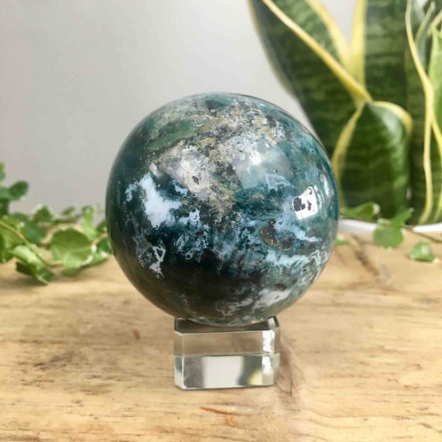 Moss Agate Sphere