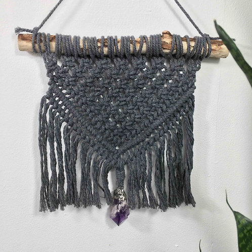 Macrame Wall hanging with Amethyst
