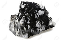 92858814-snowflake-obsidian-isolated-on-