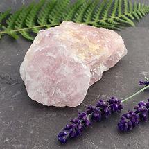 raw rose quartz stone, semi precious sto
