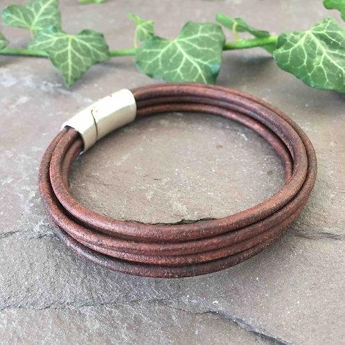 Brown Multi Leather Bracelet