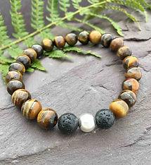 mens-tiger-eye-beaded-bracelet-handmade-