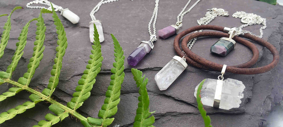 handmade necklaces, semi precious stone