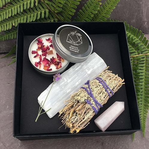 Rose Quartz Tower Healing Box