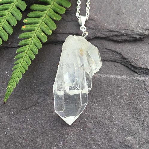 Clear Quartz Pendant Necklace