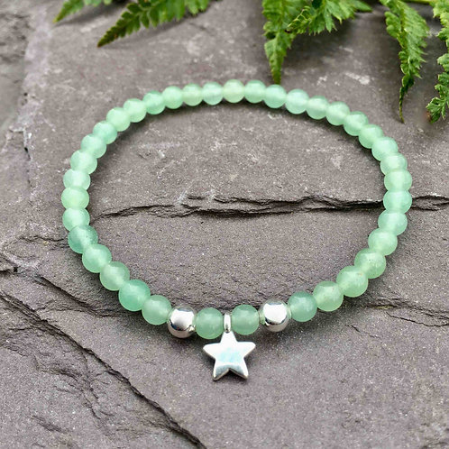 Aventurine Star Charm Bracelet