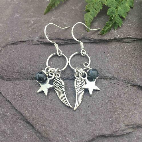 Larvikite Earrings