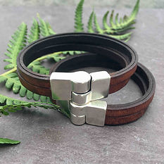 handmade leather bracelet with magnetic