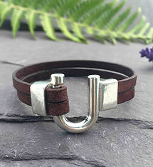 leather bracelet, handmade leather bracelet, unisex leather bracelet