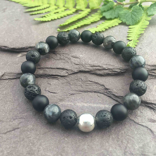 Lava Stone  Protection Bracelet