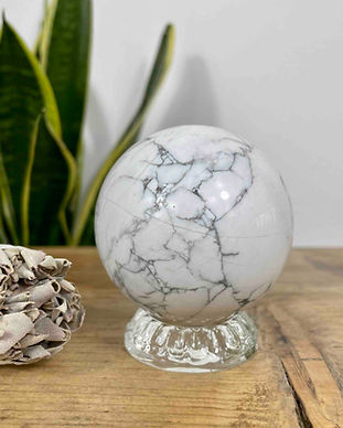white-howlite-sphere-on-glass-stand
