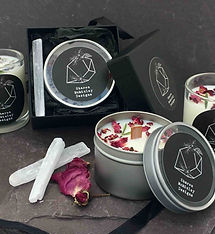 handpoured soy and coconut wax candles,