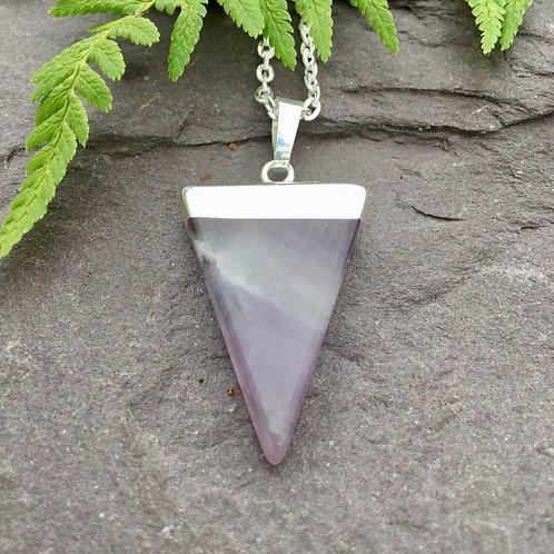 Triangle Point Amethyst Pendant