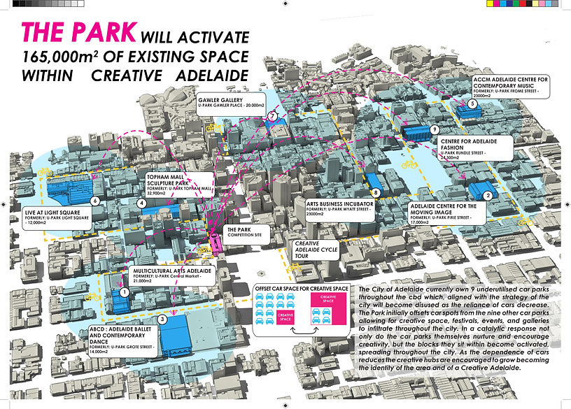 ADELAIDE CREATIVE HUB ARCHITECTURE COMPETITIO