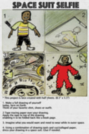 SPACE SUIT SELFIE - INSTRUCTION SHEET-FR