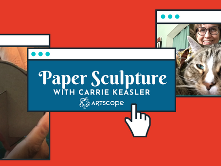 Paper Sculpture Cat with Carrie