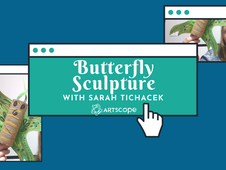 Butterfly Sculpture with Sarah
