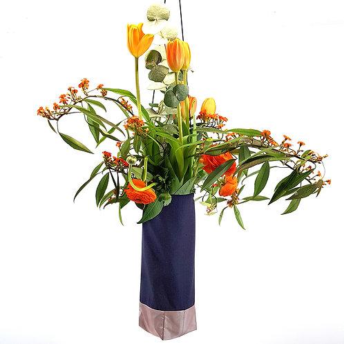 Cotton Linen hanging flower vase