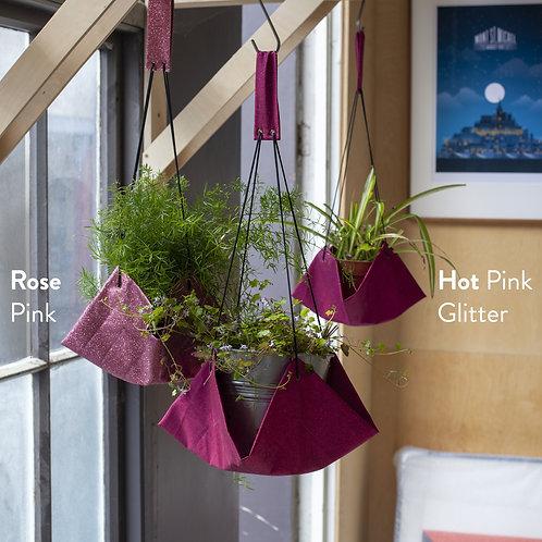 Pink Glitter indoor plant hammock