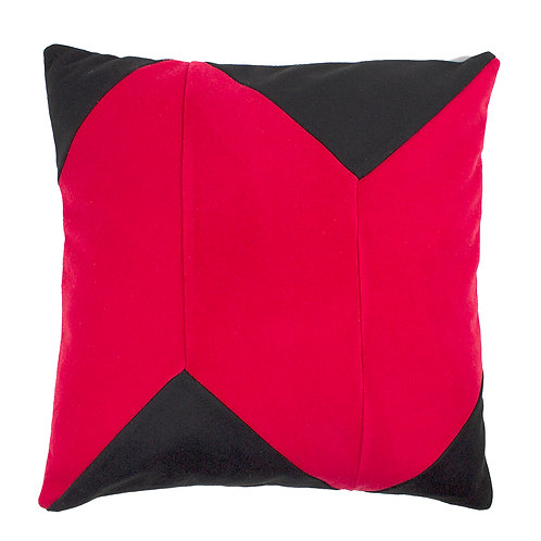 Black Red Cashmere Geo-Symmetrical Chevron 50cm Cushion Cover