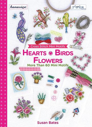 Cross Stitch Mini Motifs: Hearts, Birds and Flowers