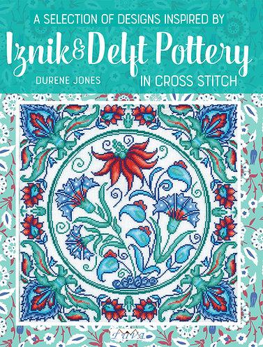 Iznik & Delft Pottery in Cross Stitch