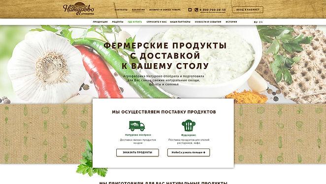 Концепт главной страницы для сайта Натурово