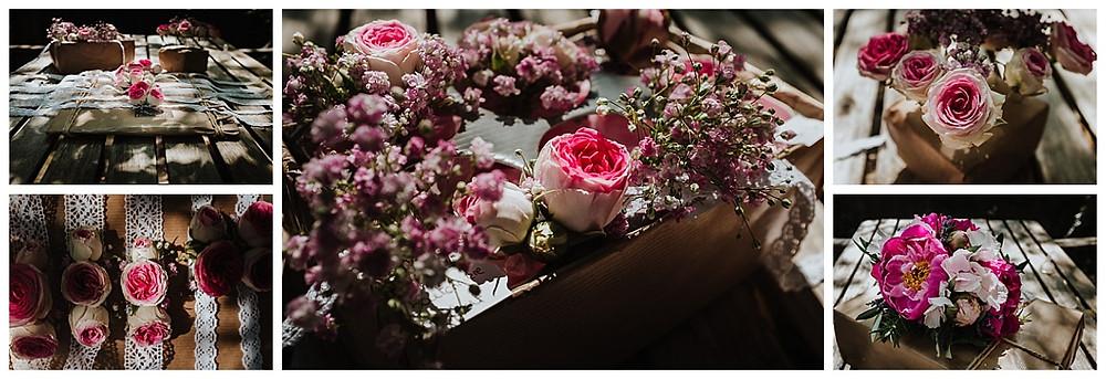 Bracelets de fleurs mariage L'Agapanthe