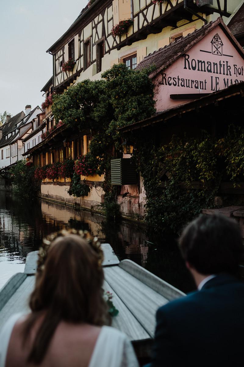 balade romantique barque colmar