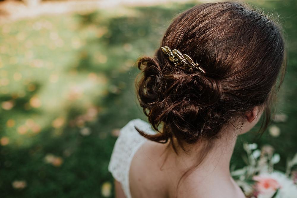 broche de cheveux mariée
