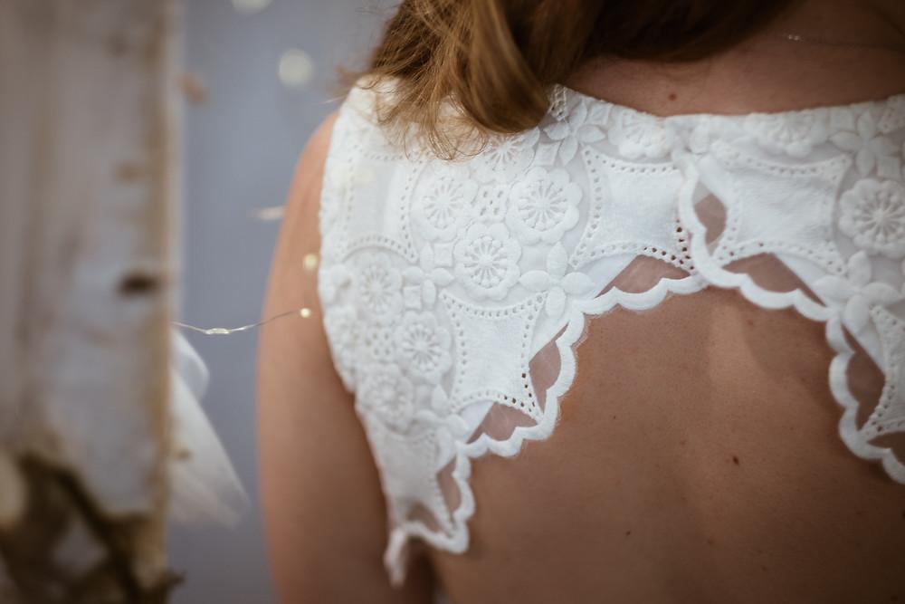 Dentelle robe de mariée Aux Fils de l'Histoire