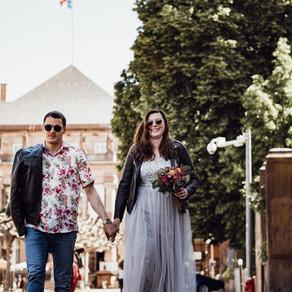 Mariage civil estival, à Strasbourg