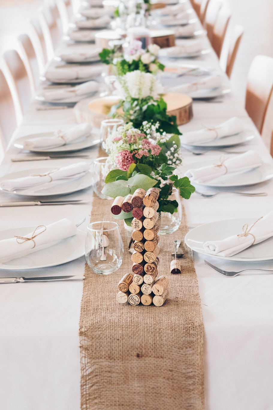 Décoration table champêtre alsace